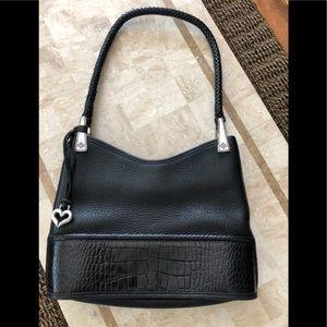 Brighton black shoulder pebbled handbag